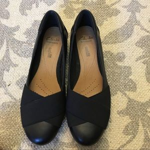 Clark's Black Flats Size 8.5 Soft Collection